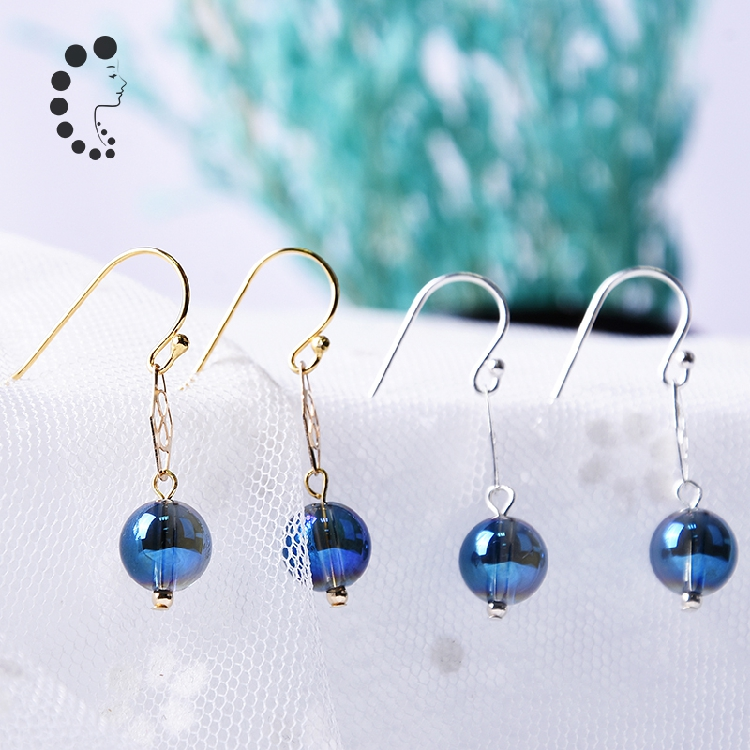 Blue Crystal Earrings women Eternal Blue Earrings simple crystal earrings minority design 2020 new fashion jewelry