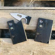 户外露营求生卡片多功能工具卡10合1组合工具卡便携瑞士军刃卡