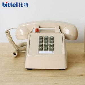 比特美式复古商务办公老式仿古电话机家用创意时尚电话机固话座机