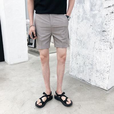 圆环拉链设计夏季百搭短裤 K107/P65 灰