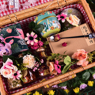 生日节日花茶礼盒花茶礼盒装组合菊花茶水果玫瑰花茶组合