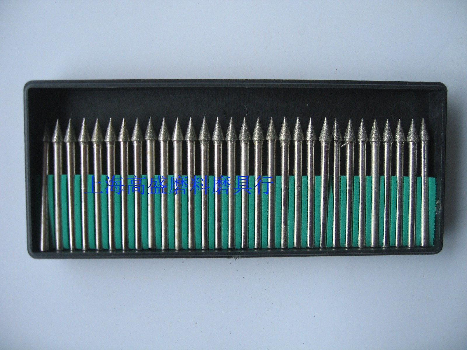 金刚石磨头 磨针 镀砂磨棒 玉石雕刻磨头 锥型4*3mm一合30支起卖