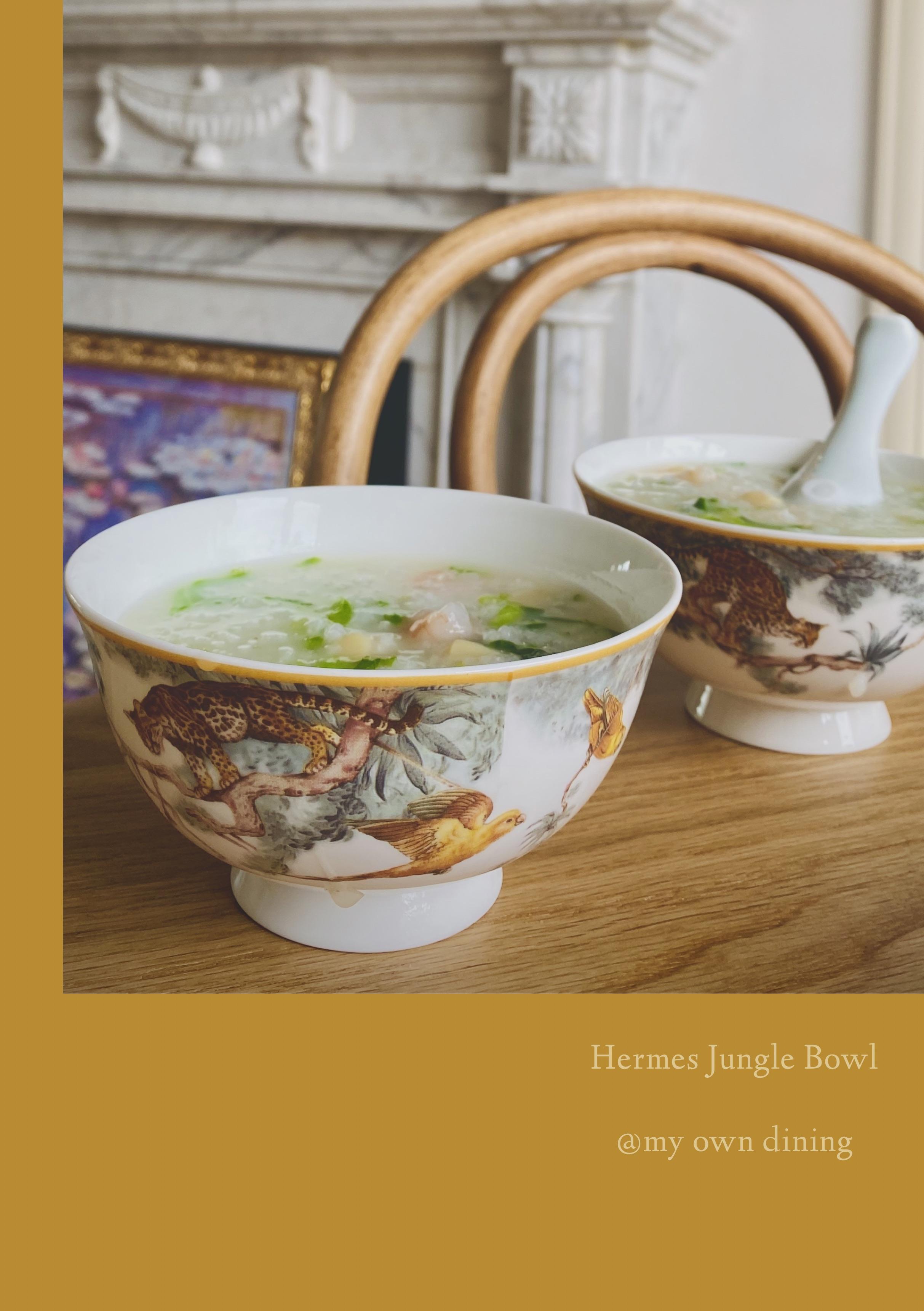 样板房Table Deco一对碗H Jungle立体手工丛林系列骨瓷饭碗甜品碗