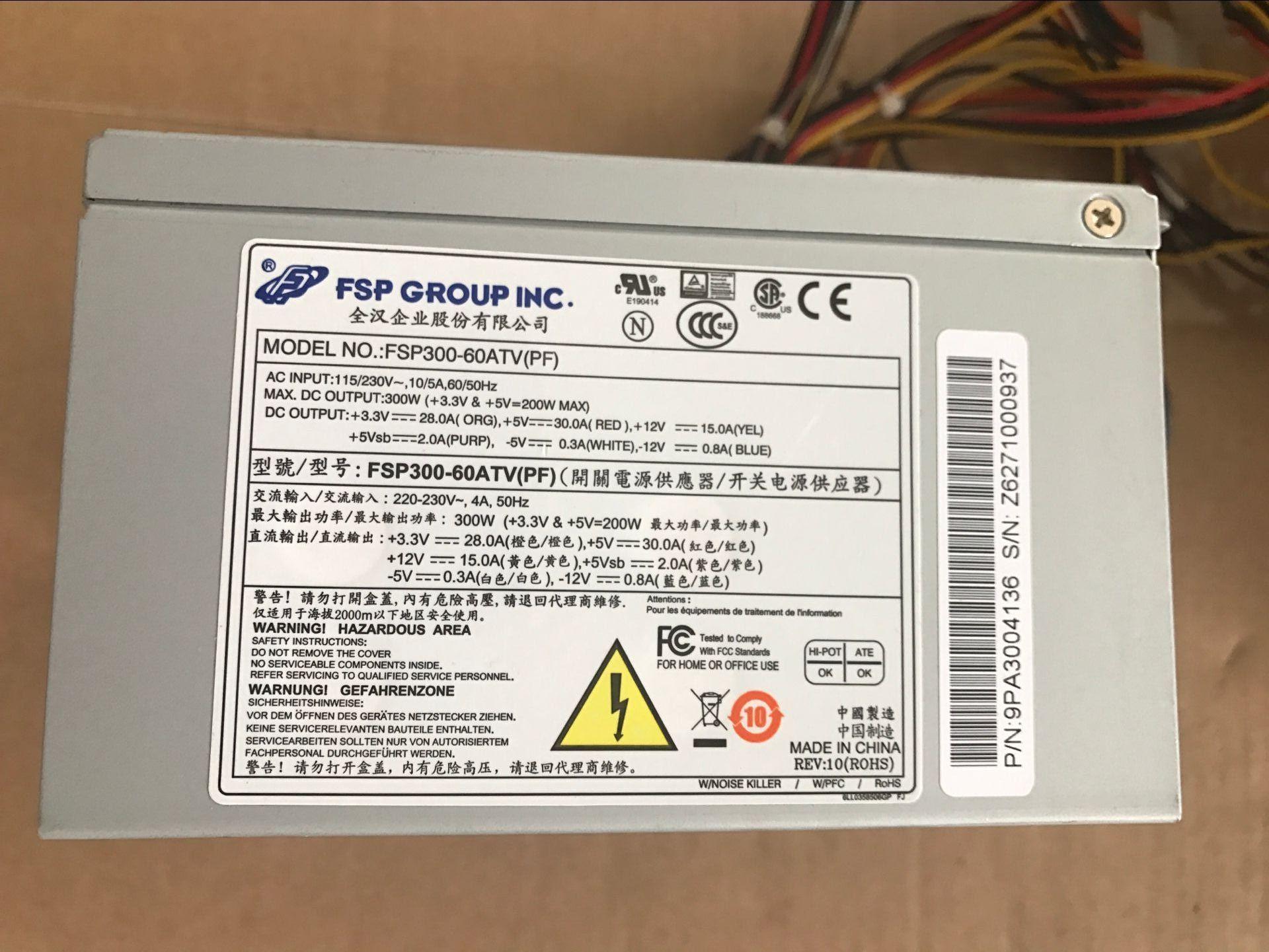 全汉 300WFSP300-60ATV(PF) 替研华工控机电源工业电源台式机电源