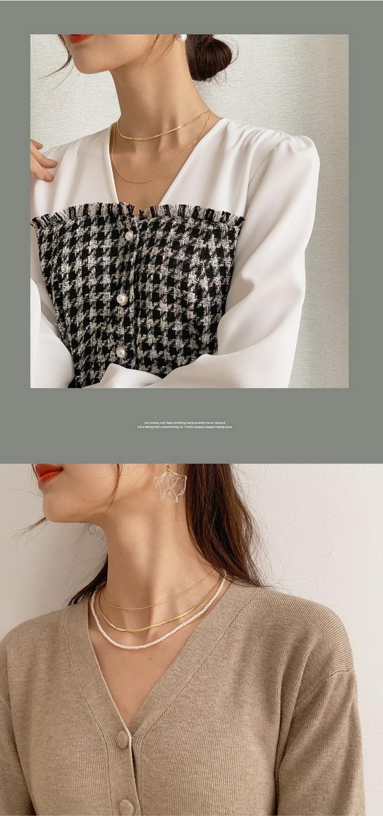 日本DHOLIC/时尚起义代购时尚串珠分层短项链