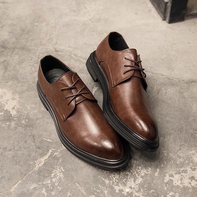 秋季男士 厚底皮鞋 休闲 鞋套脚懒人鞋乐福鞋 商务鞋 3017-P100