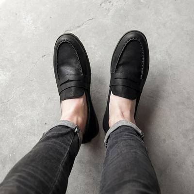 夏季 乐福鞋男复古做就豆豆鞋套 脚懒人 一脚蹬 115-8018-P235