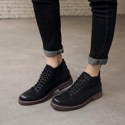 冬季 真皮复古马丁靴 做旧 男士皮靴潮工装靴 012753-P265
