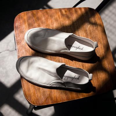 秋季套脚 小白鞋小脏鞋休闲真皮板鞋 101C-3-3288P235
