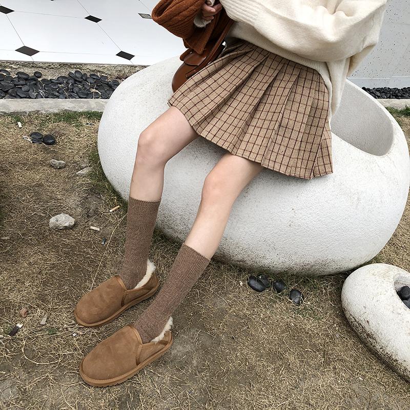 奶茶格子百褶裙女2020春装新款高腰A字半身裙韩版学生ins格纹短裙