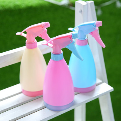 Lovely candy color vegetable sprinkling water pot watering water pot hand pressure spray water bottle meat tools gardening supplies