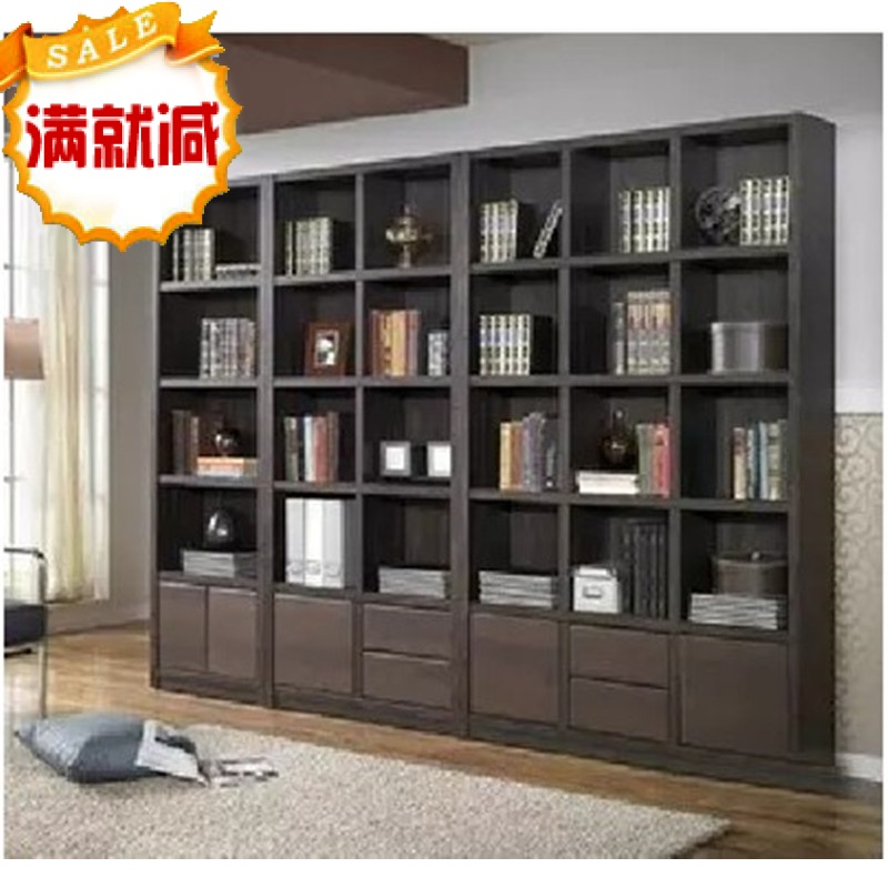 书柜柜子自由组合储物柜带门书柜书架简约现代置物柜组合柜书橱