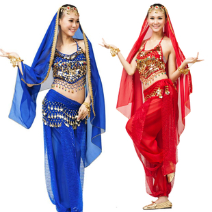 The new suit Indian dance belly dance costumes belly dance exercise clothing clothing costumes Set