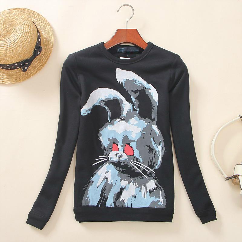 O2-2 Единая дамы бутик осенние украшения дикий черный кролик экипажа шею свитер длинный рукав свитер куртка