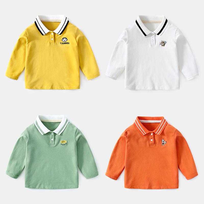 男童长袖纯棉polo衫3婴儿潮打底衫满39.00元可用1元优惠券