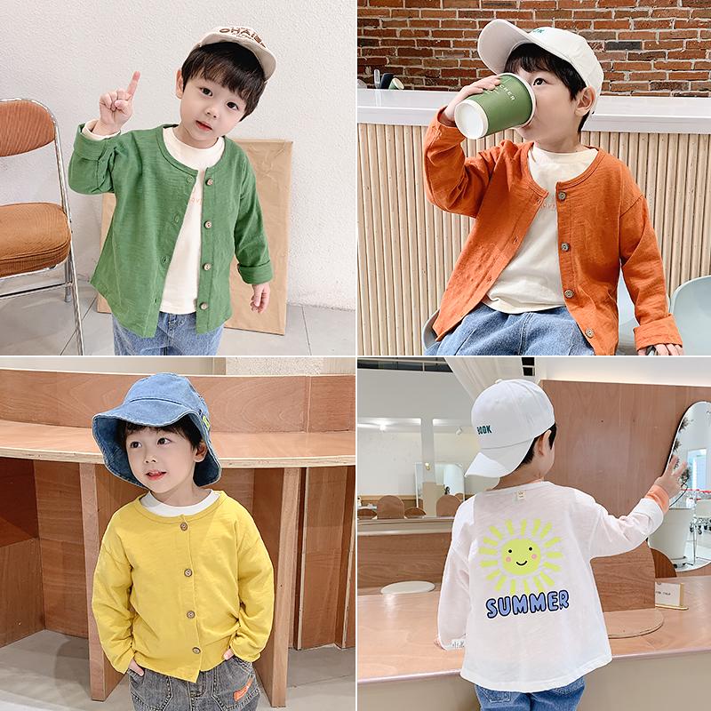 男童外套春秋宝宝上衣洋气2020新款童装小童纯棉衣服儿童春装开衫图片