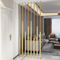 简约现代北欧屏风轻奢铁艺隔断客厅创意玄关装饰网红金属立柱墙饰