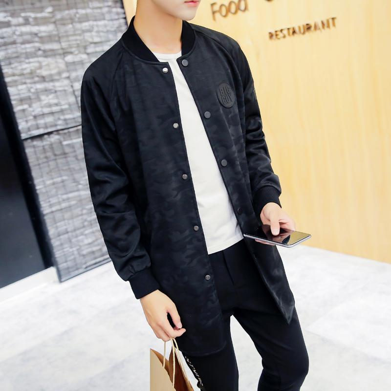 16新款夹克 潮款后面印花中长款夹克迷彩外套男长袖外套JK02-P115