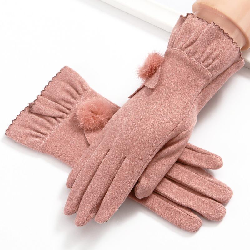 春季手套女士薄款春秋弹力贴手韩版可爱骑车保暖冬季触屏骑行春夏图片