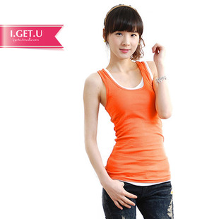 IGETU Korean wild long section of the word vest female models bottoming strap sleeveless T shirt summer long