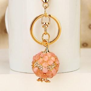 月光石水钻石榴汽车钥匙扣女可爱韩国创意包挂件钥匙链圈挂饰礼品
