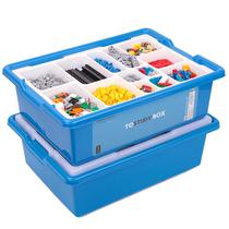 乐高积木零件分类格分层收纳盒箱子小颗粒拼装玩具超大塑料整理箱