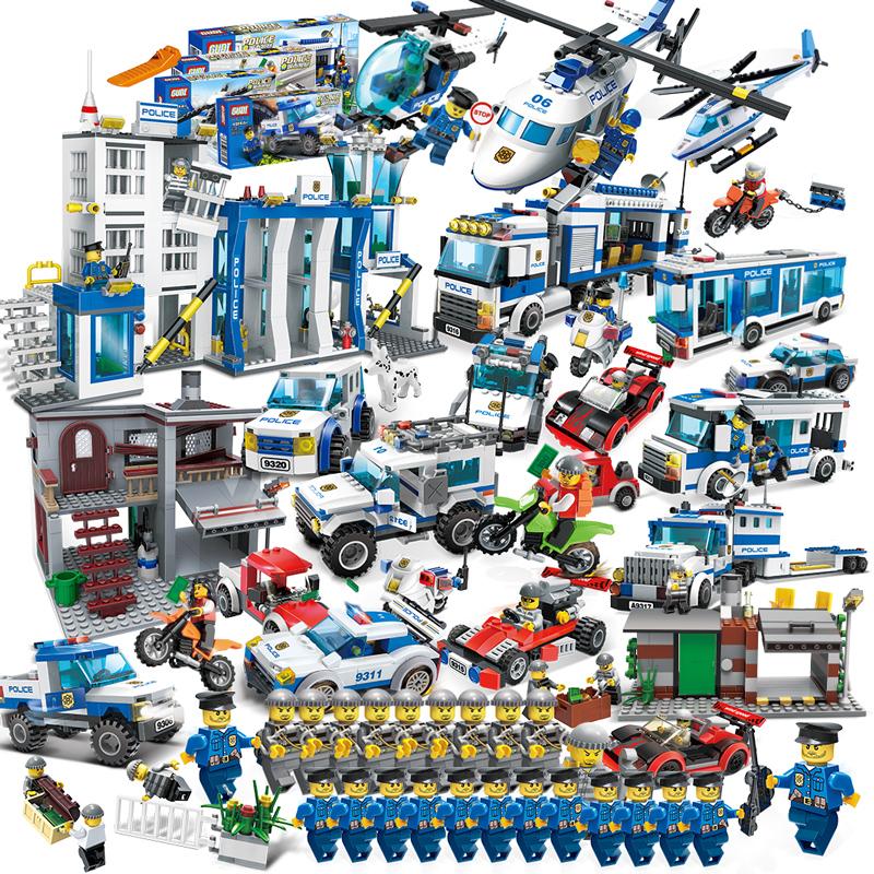 (用2.7元券)匹配积木桌城市拼装玩具军事警察儿童益智模型6-7-8-10岁男孩子礼