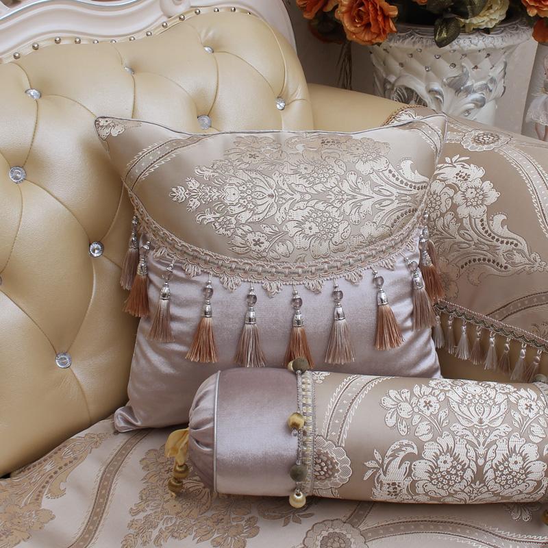 Континентальный диван дворец квадрат подушка группа кисточка атмосфера благородный хорошо жаккард подушка татами подушка содержит ядро