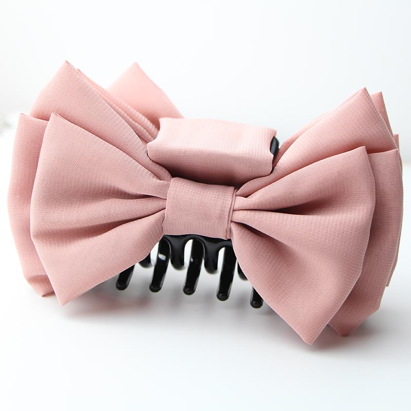 Super large bow hair clip clip clip large size silk yarn temperament Korea East Gate hair ornament Shower Hair Clip vertical clip