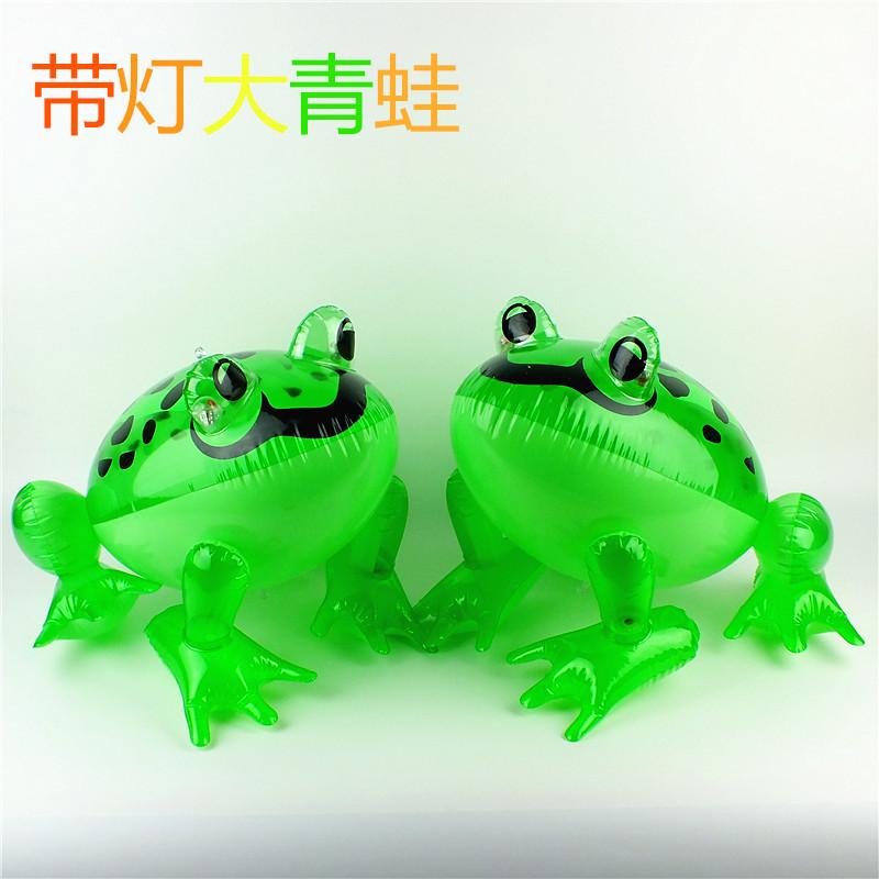 玩具儿童充气动物玩具 带灯带线充气青蛙 发光甲壳虫大号发光玩具