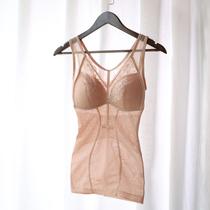 免穿文胸塑身衣女收腹背心带胸罩一体式薄款聚拢束腰瘦身美体内衣