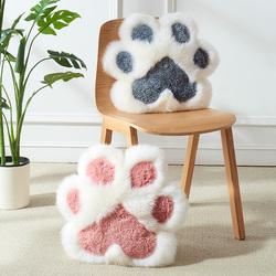 澳尊猫爪靠垫动物卡通羊毛靠垫猫爪抱枕儿童可爱少女心毛绒靠垫粉