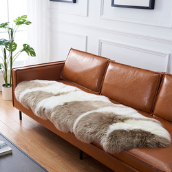 澳尊澳洲纯羊毛沙发垫真皮沙发坐垫定做飘窗垫羊皮垫羊毛垫毯定制