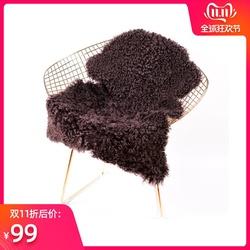 澳尊澳洲羊毛沙发垫简约坐垫卷羊毛飘窗垫北欧椅垫整张羊皮卷毛垫