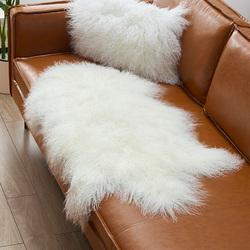 澳尊滩羊毛毛垫沙发垫羊毛坐垫自然卷羊毛垫子滩羊皮毛沙发坐垫毯