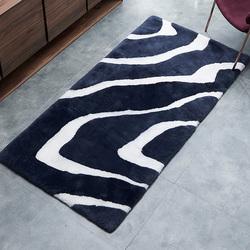 澳尊澳洲羊毛地毯客厅羊皮地毯卧室皮毛一体黑白灰斑马条纹厚地毯