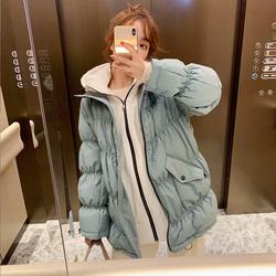 羽绒服女中长款2020年新款时尚小个子白鸭绒宽松大码加厚韩版冬季