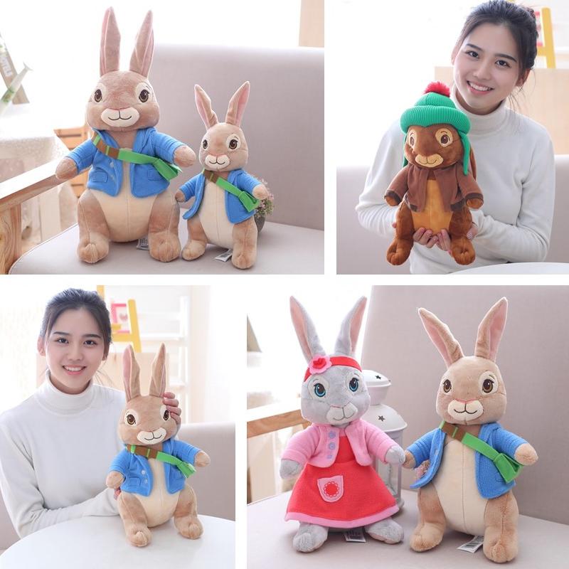 正版彼得兔公仔本杰明莉莉小兔兔玩偶比得兔毛绒玩具儿童宝宝礼物