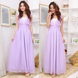 Sisters married bridesmaid dress skirt long section of small dress evening dress female Korean Slim thin shoulders dress S913