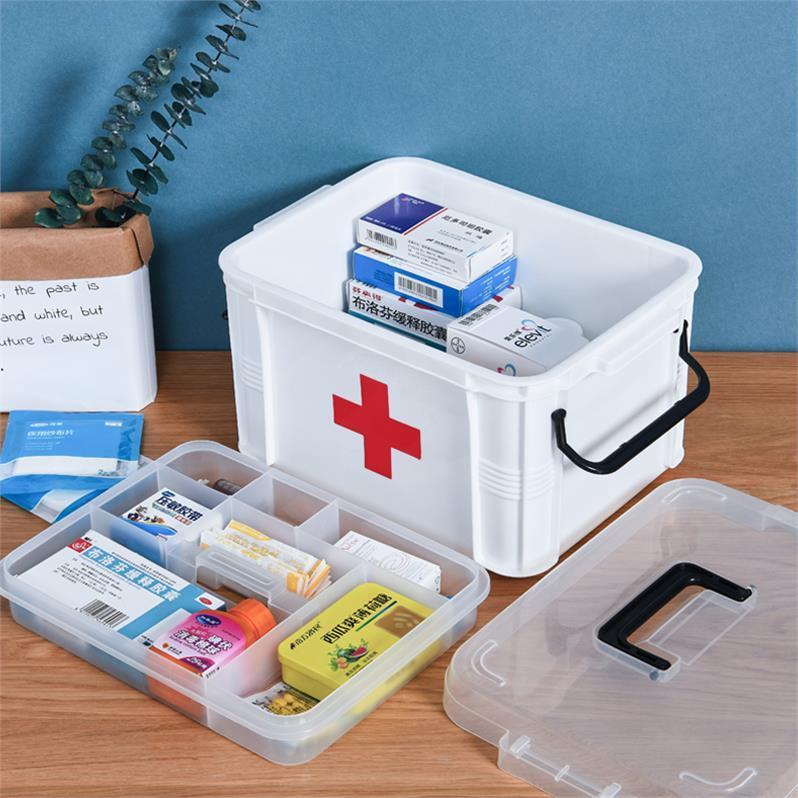 Daily necessities childrens medicine box collection box household storage box plastic storage box medicine box baby cute