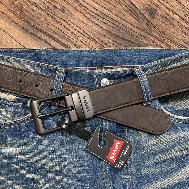 美国正品Levis李维斯复古休闲皮带男式针扣双面腰带潮11LV1226图片
