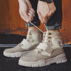 9789P43冬季新款马丁靴高帮英伦男鞋复古沙漠靴男厚底潮流男靴子