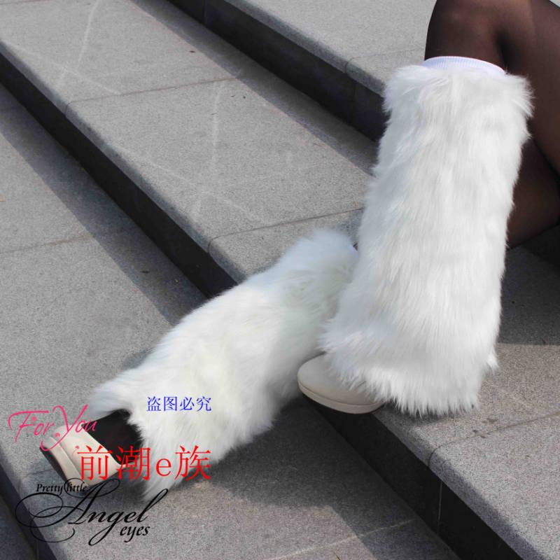 Новые меха длинные волосы мягкие ботинки носки короткие плюшевые Чистка крышки ноги волосатые ноги