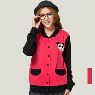 Optionally two 89 yuan large size women s sports campus was thin long sleeved cardigan jacket female baseball uniform