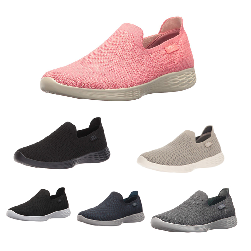 Skechers 斯凯奇 YOU系列女单鞋 网布一脚蹬休闲鞋14956