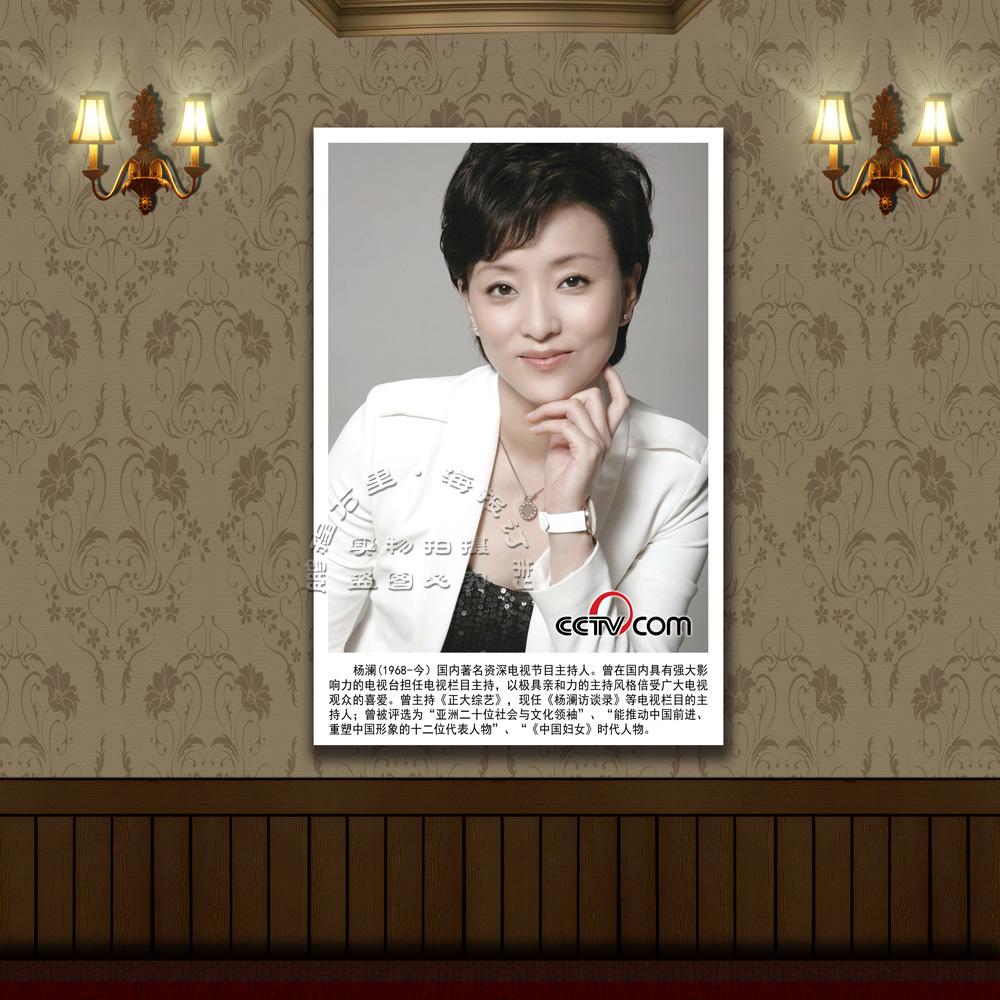 中央电视台 著名主持人海报 生活照片 CCTV杨澜