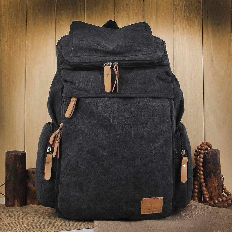 Backpack canvas Travel Backpack extra large capacity 15.6 inch computer bag