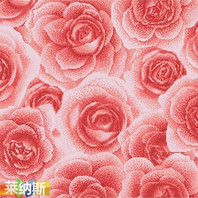 【莱纳斯】红玫瑰陶瓷马赛克拼图背景墙 墙贴 建材瓷砖 装修材料