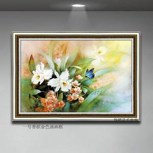 家居饰品纯手绘装饰画客厅书房餐厅花卉油画定制