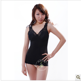 Body soft girly vest with removable pads bra corset back body shaping underwear abdomen close